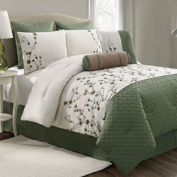 top 28 white and green comforter sets 12 pc teal green. Black Bedroom Furniture Sets. Home Design Ideas